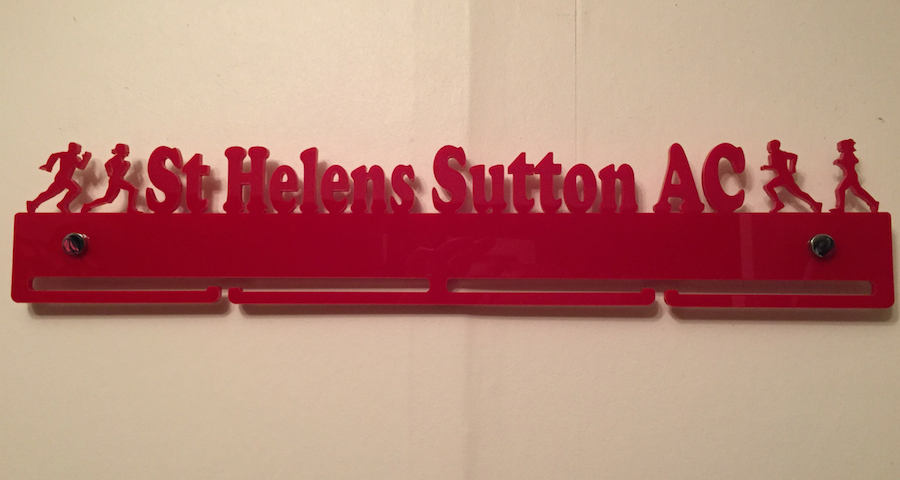 St. Helens Sutton A.C. single tier medal hanger