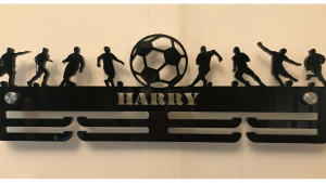 Football 2 tier medal hanger