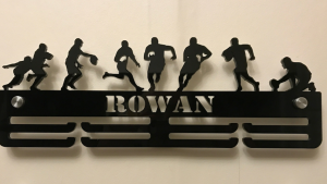 Rugby two tier medal hanger