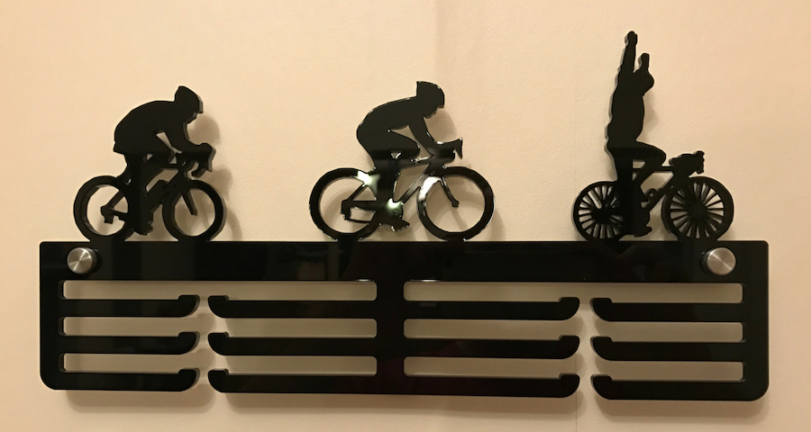 Cycling 3 tier medal hanger