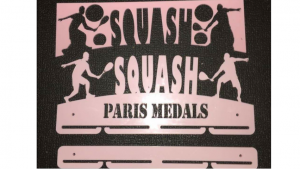 Squash 1 tier with extra rails medal hanger