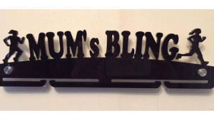 mum's bling single tier medal hanger