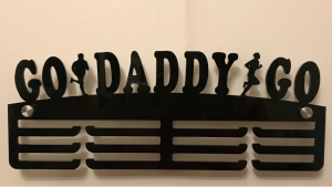Go Daddy Go - Run 3 tier medal hanger