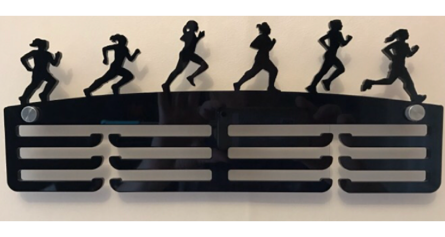 Female Runner 3 tier medal hanger