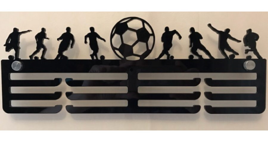 Football 3 tier medal hanger