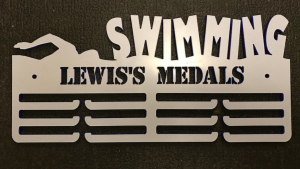 Swimming Personalised 3 Tier Medal Hanger