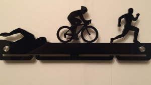 Male Triathlete single tier medal hanger