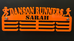 Danson Runners Personalised 3 tier medal hanger
