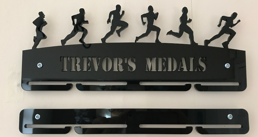 Male Runner 1 tier with extra rails medal hanger