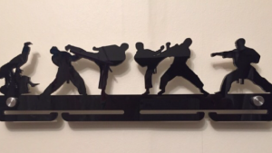 Martial Arts single tier medal hanger