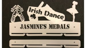 Irish Dance 1 tier with extra rails medal hanger
