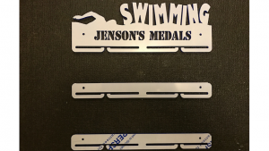 Swimming 1 tier with extra rails medal hanger