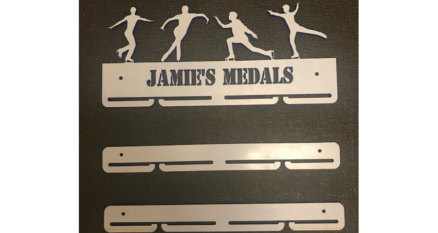 Figure Skating 1 tier with extra rails medal hanger
