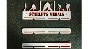 Hockey 1 tier with extra rails medal hanger