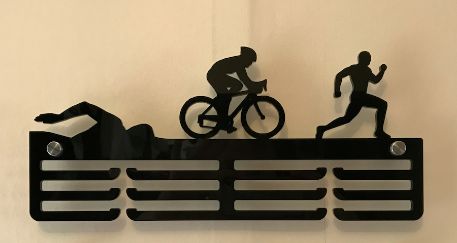 Male Triathlon 3 tier medal hanger