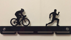 Duathlon single tier medal hanger