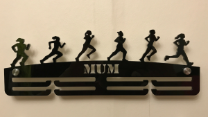 Female Runner 2 tier medal hanger