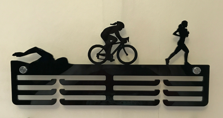 Female Triathlon 3 tier medal hanger