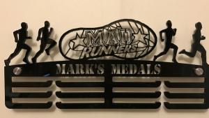 Mad Runners personalised 3 tier medal hanger