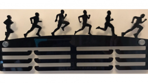 Male Runner 3 tier medal hanger