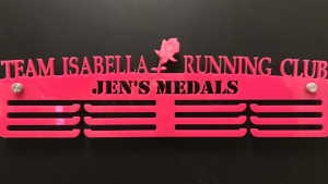 Team Isabella Rose Personalised 3 Tier Medal Hanger