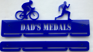 Duathlon 1 tier with extra rails medal hanger