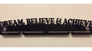 Dream Believe Achieve Medal Hanger Single Tier