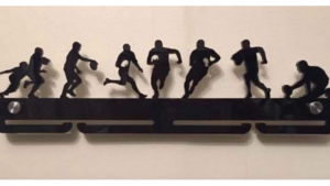 Rugby single tier medal hanger