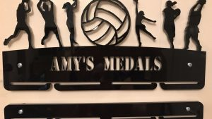 Netball Medal Hanger single tier with extra rail