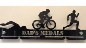 Dad's Triathlon single tier medal hanger