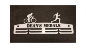 Duathlon two tier medal hanger
