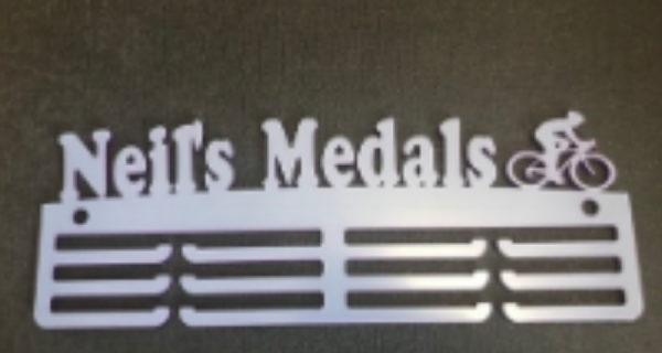 Custom Name Cycling 3 tier 325mm Medal Hanger