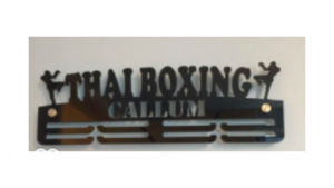 Thai Boxing two tier medal hanger
