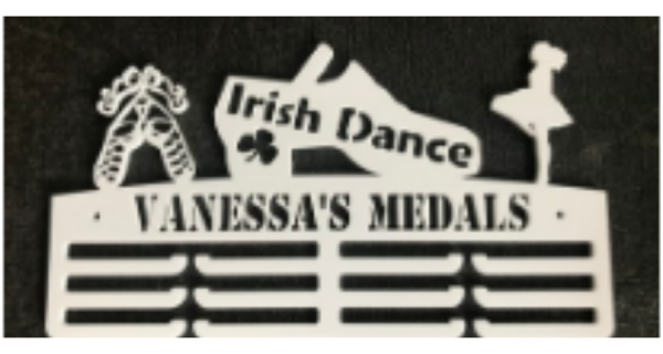 Irish Dance Personalised 3 tier medal hanger