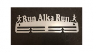 Run (Name) Run two tier medal hanger
